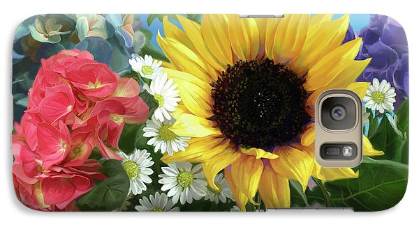 Daisy Galaxy S7 Case - Multicolor Flowers by Lucie Bilodeau