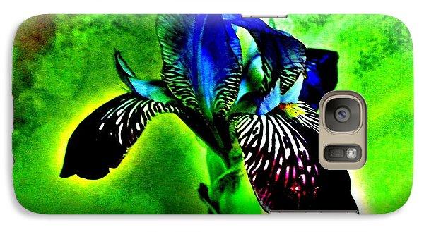 Galaxy Case featuring the photograph Multicolor Iris by Marsha Heiken
