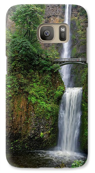 Galaxy Case featuring the photograph Multnoma Falls by Jonathan Davison
