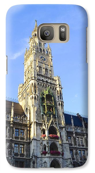 Galaxy Case featuring the photograph Munich Marienplatz by Corinne Rhode