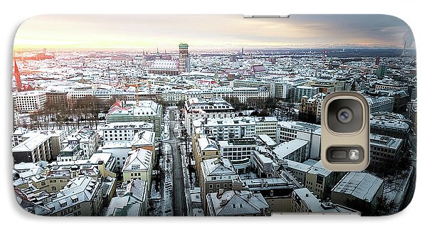 Galaxy Case featuring the photograph Munich - Sunrise At A Winter Day by Hannes Cmarits