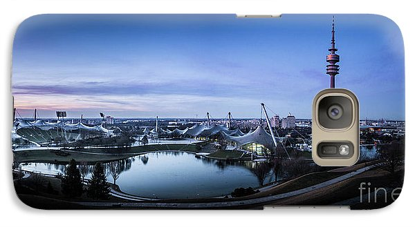Galaxy Case featuring the photograph Munich - Watching The Sunset At The Olympiapark by Hannes Cmarits