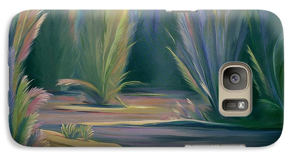 Galaxy Case featuring the painting Mural Field Of Feathers by Nancy Griswold