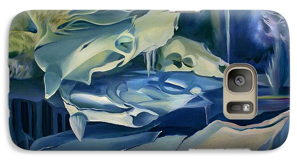 Galaxy Case featuring the painting Mural Skulls Of Lifes Past by Nancy Griswold