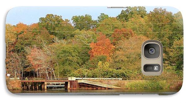 Galaxy Case featuring the photograph Murphy Mill Dam/bridge by Jerry Battle