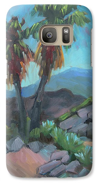Galaxy Case featuring the painting Murray Trail Andreas Canyon by Diane McClary