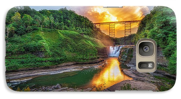 Galaxy Case featuring the photograph Mushroom Cloud Over Upper Falls by Mark Papke