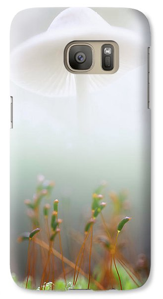 Galaxy Case featuring the photograph Mushroom Dreams, Mycena Galericulata by Dirk Ercken