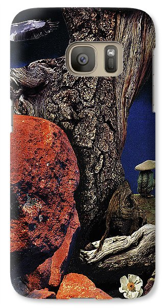 Galaxy Case featuring the painting Mushroom People - Collage by Linda Apple