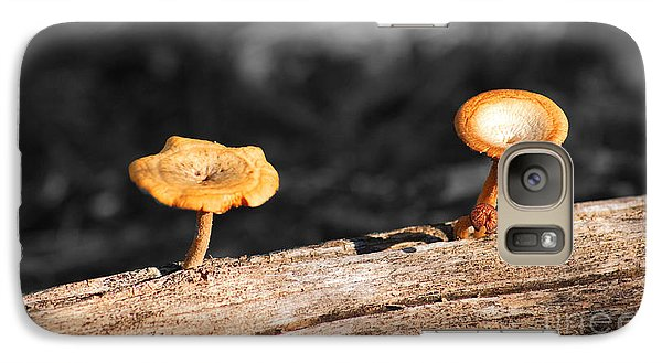 Galaxy Case featuring the photograph Mushrooms On A Branch by Donna Greene