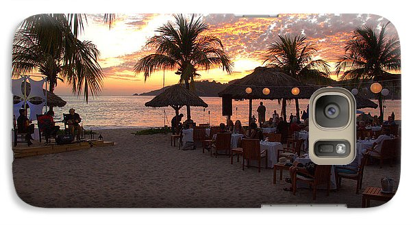 Galaxy Case featuring the photograph Music And Dining On The Beach by Jim Walls PhotoArtist