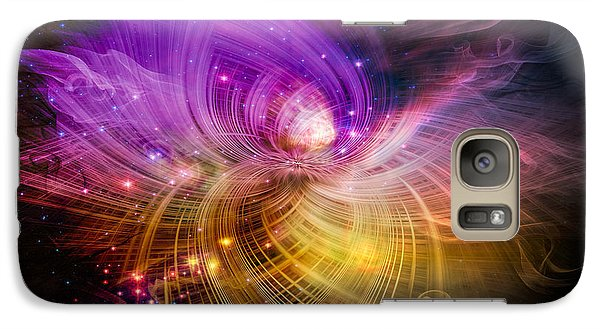 Galaxy Case featuring the digital art Music From Heaven by Carolyn Marshall