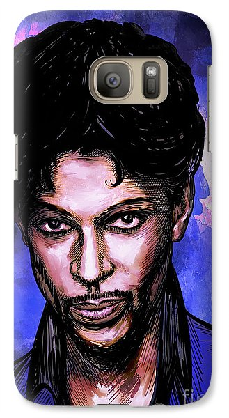 Galaxy Case featuring the painting Music Legend  Prince by Andrzej Szczerski