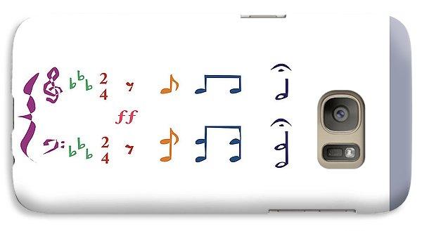 Galaxy Case featuring the digital art Music Notes 1 by David Bridburg