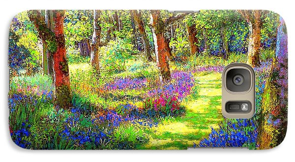 Galaxy Case featuring the painting Music Of Light, Bluebell Woods by Jane Small