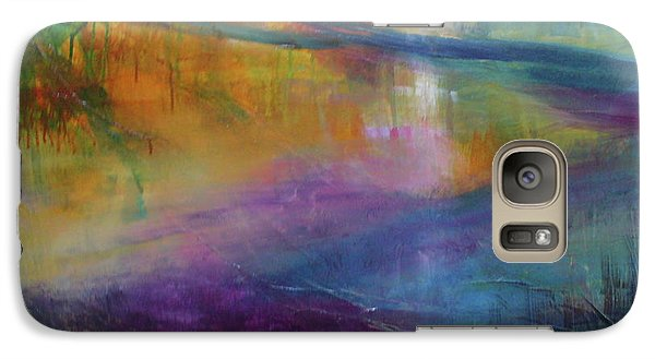 Galaxy Case featuring the painting Music Of The Night by Mary Sullivan