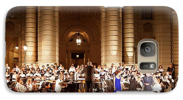 Galaxy Case featuring the photograph Music Under The Stars - Symphony At Pasadena City Hall California by Ram Vasudev