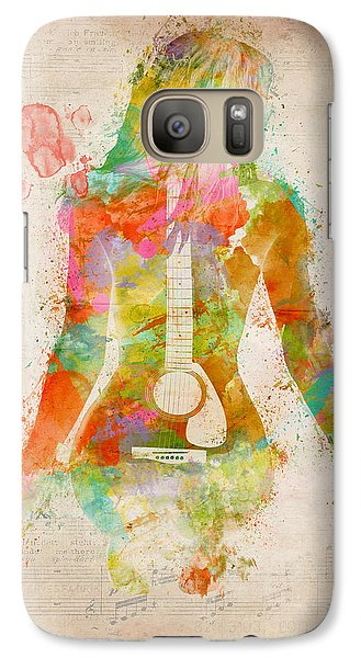 Rock And Roll Galaxy S7 Case - Music Was My First Love by Nikki Marie Smith