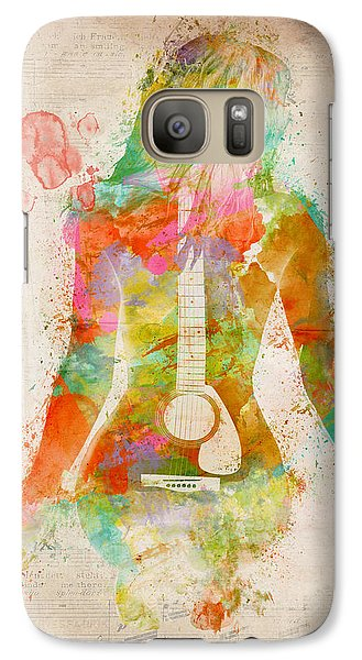 Nudes Galaxy S7 Case - Music Was My First Love by Nikki Marie Smith