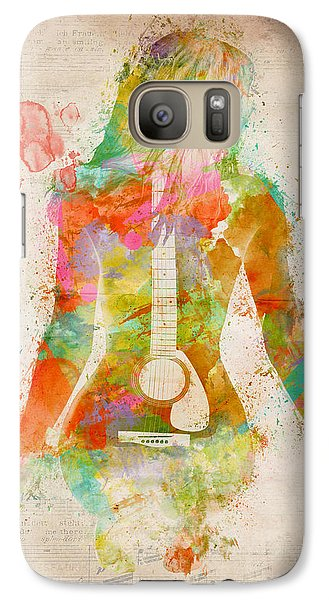 Music Was My First Love Galaxy S7 Case by Nikki Marie Smith