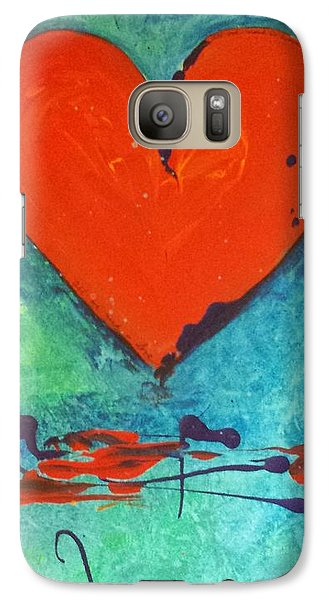 Galaxy Case featuring the painting Musical Heart by Diana Bursztein