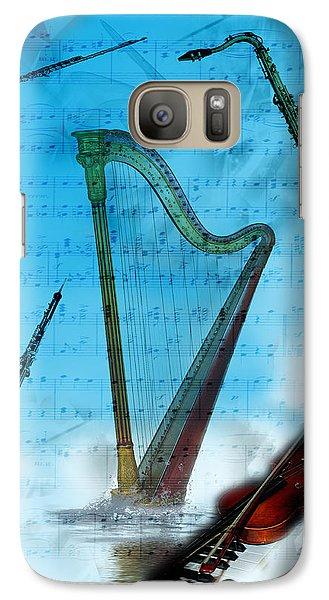 Galaxy Case featuring the digital art Musical Instruments by Angel Jesus De la Fuente