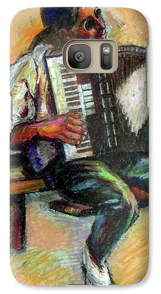 Galaxy Case featuring the drawing Musician With Accordion by Stan Esson