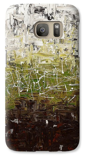 Galaxy Case featuring the painting Musing by Carmen Guedez