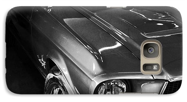 Galaxy Case featuring the photograph Mustang In Black And White by John Stuart Webbstock