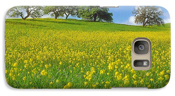 Galaxy Case featuring the photograph Mustard Field by Mark Greenberg