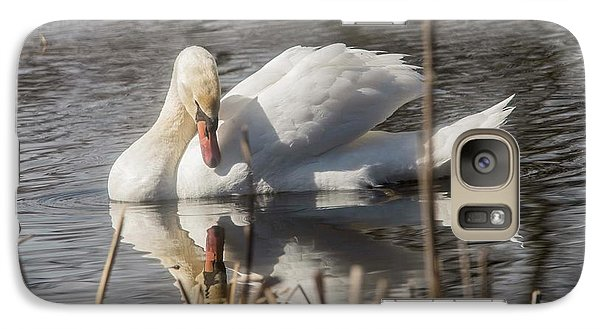 Galaxy Case featuring the photograph Mute Swan - 3 by David Bearden