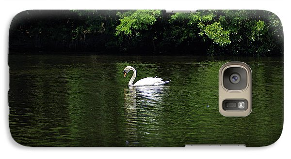 Galaxy Case featuring the photograph Mute Swan by Sandy Keeton