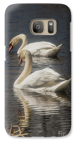 Galaxy Case featuring the photograph Mute Swans by David Bearden