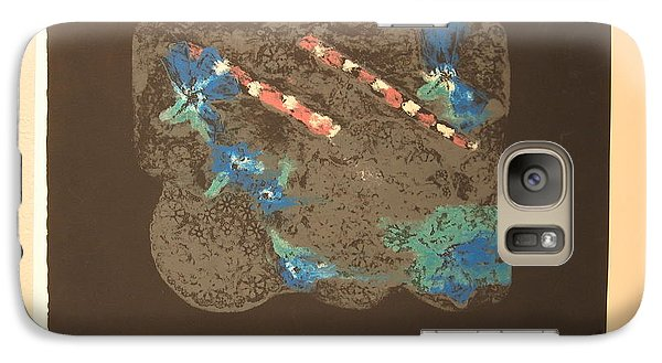 Galaxy Case featuring the mixed media Muted by Erika Chamberlin
