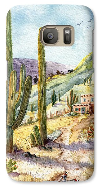 Galaxy Case featuring the painting My Adobe Hacienda by Marilyn Smith