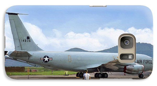 Galaxy Case featuring the digital art My Baby Kc-135 by Peter Chilelli
