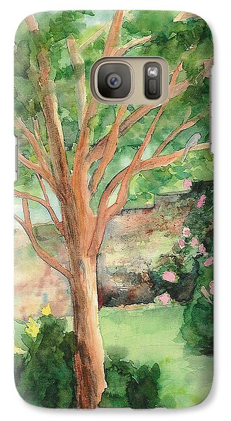 Galaxy Case featuring the painting My Backyard by Vicki  Housel