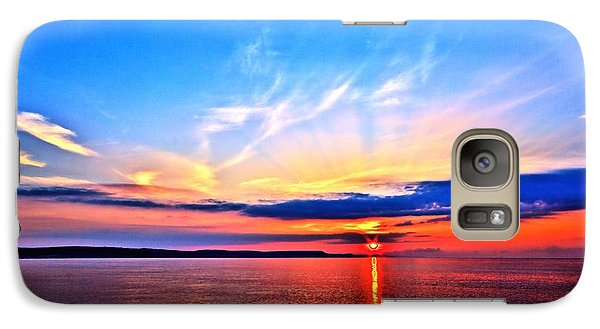 Galaxy Case featuring the photograph My Blue Heaven by Baggieoldboy