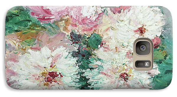 Galaxy Case featuring the painting My Chrysanthemums by Barbara Anna Knauf
