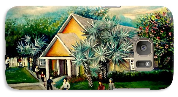 Galaxy Case featuring the painting My Church by Yolanda Rodriguez