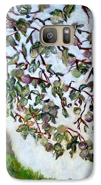 Galaxy Case featuring the painting My Daughter's Apple Tree by Aleezah Selinger