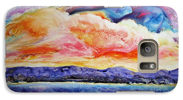 Galaxy Case featuring the painting My Dream by Joan Hartenstein