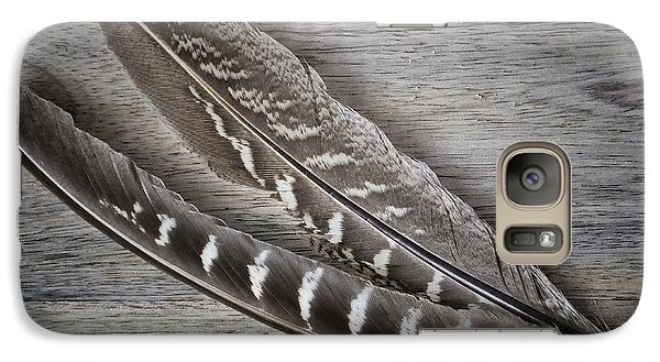 Galaxy Case featuring the photograph My Fabulous Feathery Find. by Karen Stahlros