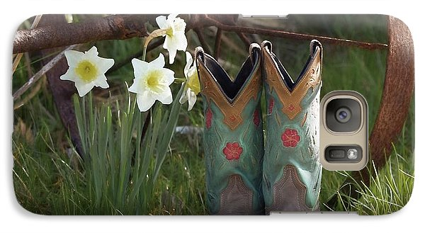 Galaxy Case featuring the photograph My Favorite Boots by Benanne Stiens