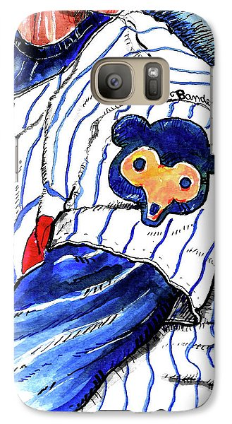 Galaxy Case featuring the painting My Favorite Chicago Cub by Terry Banderas