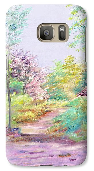 Galaxy Case featuring the painting My Favourite Place by Elizabeth Lock