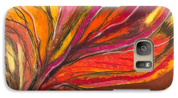 Galaxy Case featuring the painting My Fever Burns by Ania M Milo