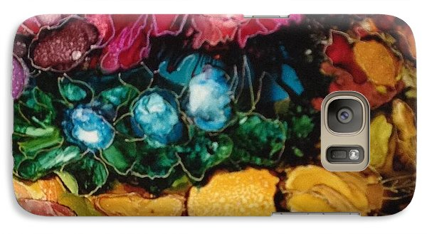 Galaxy Case featuring the painting My Flower Garden by Suzanne Canner