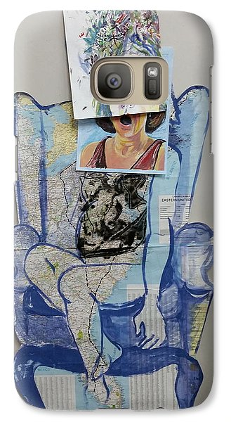 Galaxy Case featuring the painting My Foot Is In Miami by Tilly Strauss