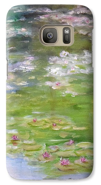 Galaxy Case featuring the painting My Giverny by Sandra Nardone